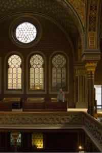Exploring the Spanish Synagogue in Prague's Jewish quarter...