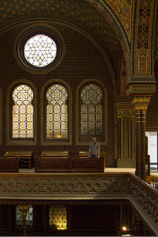 Exploring the Spanish Synagogue in Prague's Jewish quarter...