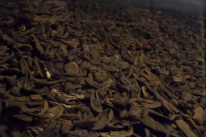 Some of the shoes taken from the hundreds of thousands of people who were murdered here...