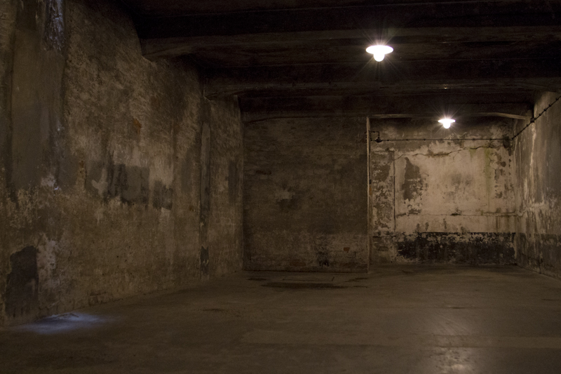 The gas chamber at Auschwitz 1...