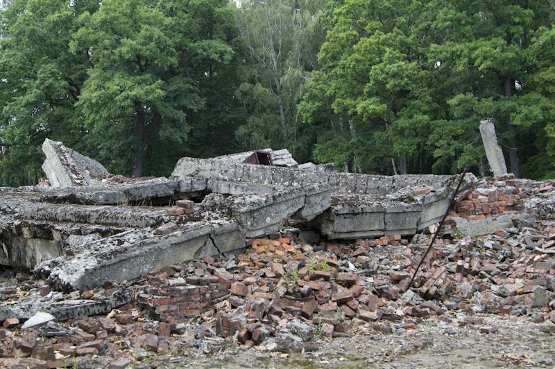 The retreating Nazi's dynamited the gas chambers before abandoning Birkenau...