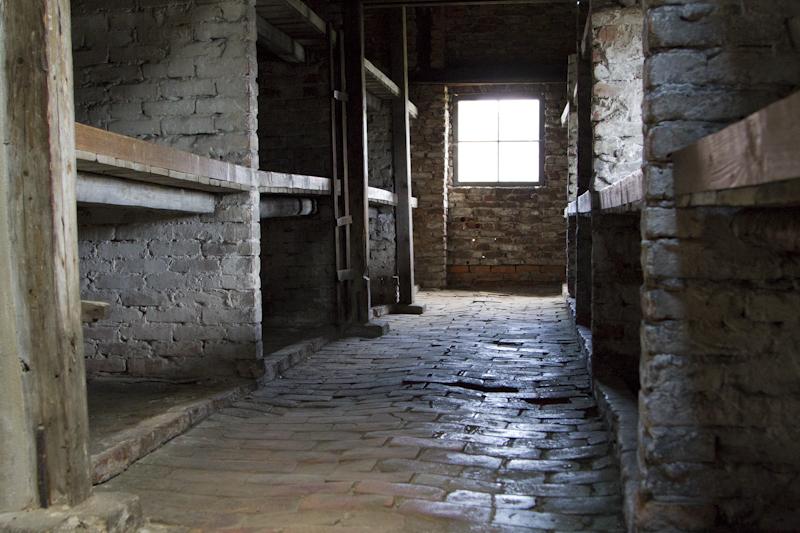 One of the barracks blocks at Auschwitz 2 - Birkenau...