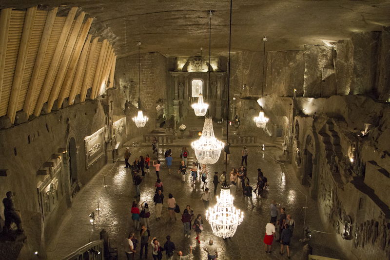 A salty cathedral deep underground...