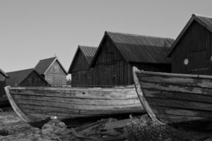 The old fishing settlement of Helgumannen...