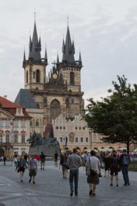 The Gothic spires of the Church of Our Lady before Tyn make a great Old Town landmark...