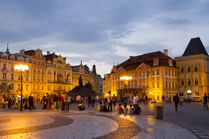 Early evening on the Old Town Square...