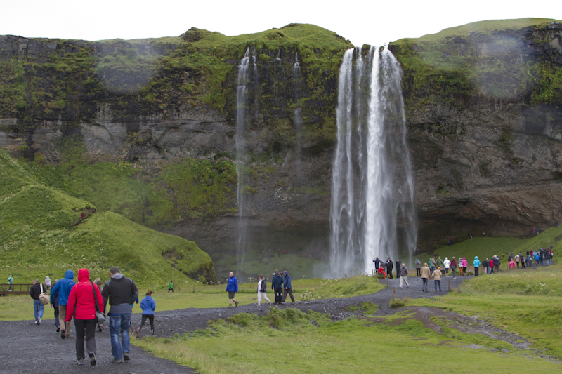 This is Seljalandsfoss, right on the Ring Road...