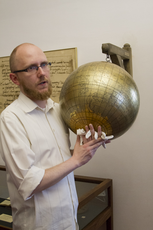 Our curator shows us the first known depiction of the New World on a globe...