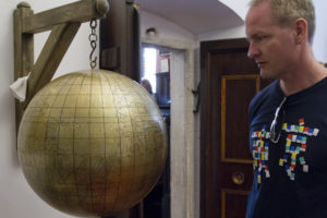 Admiring the 16th century Jagiellonian Globe...