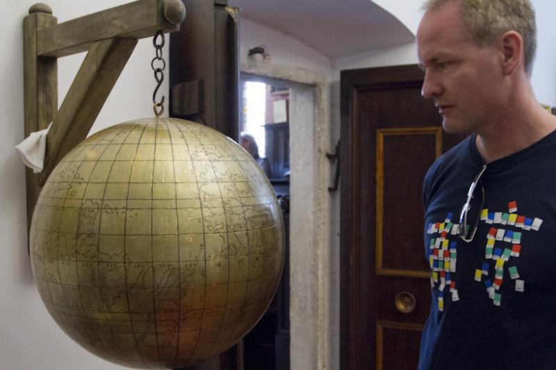 Admiring the 16th century Jagiellonian Globe...