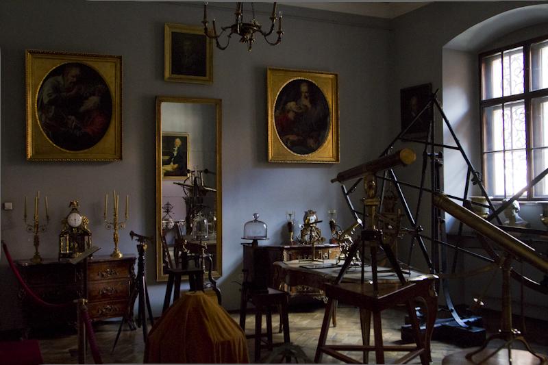The Collegium has a vast collection of scientific instruments...