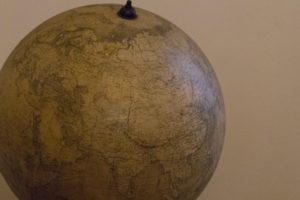 There are vast numbers of globes in the collection, many from the workshops of masters like Gerard Mercator...