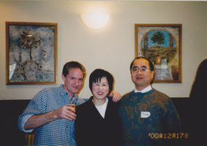 The English school Xmas party — that's Tomio on the right, I'll link his story below...